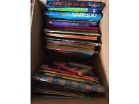 A box full of children story books