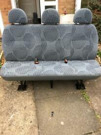 Transit rear bench seat