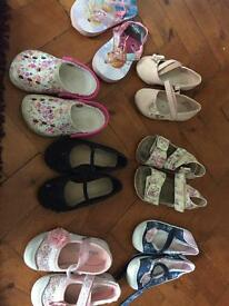 Size 7 toddler shoes and sanders bundle