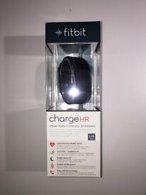 Fitbit Charge HR Large Heart Rate Monitor Wristband - Black