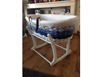3 shades of Blue, Baby Moses Basket