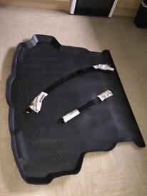Mazda car boot mat and wind deflectors