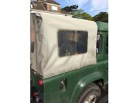 Land Rover defender canvas & frame