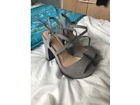 Brand new platform heels -size 4
