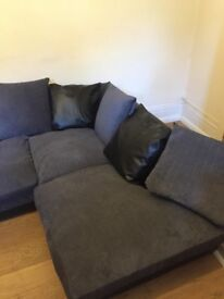 Jumbo Grey Corner Sofa For Sale