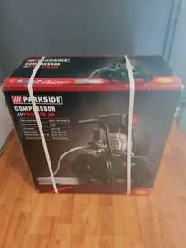 Air compressor and attachments,all brand new,unopened and sealed.