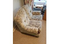 Small 2 seater sofa & footstool