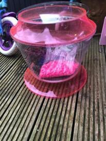 Fish tank Pink Plastic & accessories