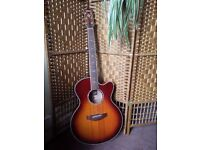 Yamaha guitar compass series cpx900 sunburst awesome live sound. Electric acoustic guitar