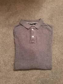 Superdry Mens large long-sleved Polo Shirt