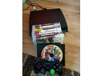 PS3 (320GB) slim type console with games & x 1 wireless controller
