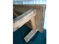 Chunky Rustic Solid Oak Sleeper Coffee table