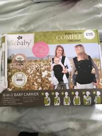 Baby sling carrier papoose organic 6 in 1 excellent condition only used once