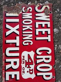 Double sided tobacco sign