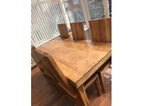 Dinning table and matching sideboard