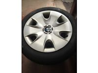 Set of BMW genuine wheels with winter tyres