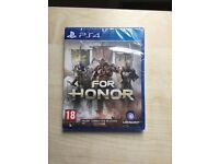For Honor for PS4, new, still sealed