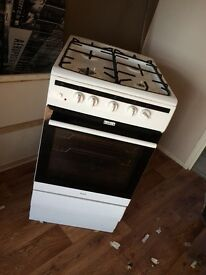 Freestanding amica white gas cooker
