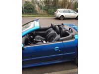 Peugeot 206 cc TAX M.o.T and SERVICED drives well good for first time drivers