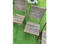 Garden Chairs x4 ~ Garden Teak Chairs