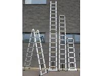 5m Telescopic pop-up extending ladders ; loft roof flat boot office van caravan anti theft