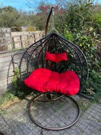 Double hanging egg chair for garden - never used