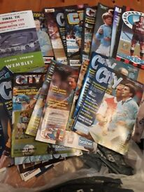 Football programmes. Manchester City approx 60.