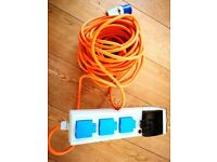 Camping - power and mains electricity mobile socket kit