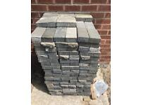 Charcoal coloured block paving 7.5 m2