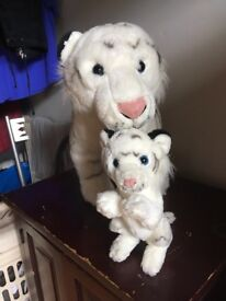 Stuffed white lion