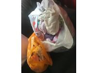 Free bag of baby used clothes