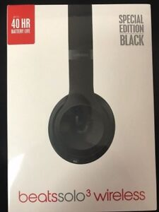 NEW Beats Solo 3 Wireless Headphones- Special Ed. Matte Black