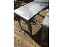 Two IKEA Stainless Steel Tables: Indoor or Outdoor Use