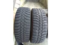Pair of 215 65 16 Winter Tyres 8mm Tread in West London Area