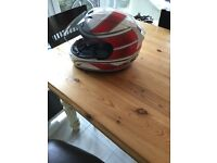 Stylish HJC motorbike helmet hardly used