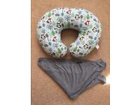 Boppy breastfeeding pillow and mothercare cover