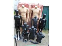Large lot of clothes dummies / mannequins