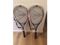 2 x Dunlop Adults Tennis Rackets Like New