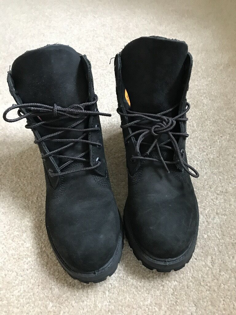 Timberland 6 Inch Buck Boots Black Nubuck