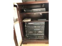 Stereo hi fi system with cabinet