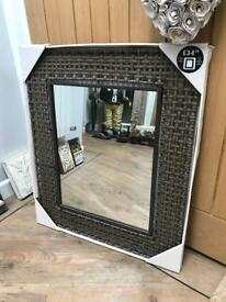 REDUCED Beautiful Rattan Framed Large Wall Mirror