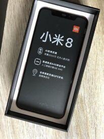 Xiaomi MI 8 - 128GB - 6GB - Global Rom - Dual Sim - Dual GPS - Black Colour - Brand New