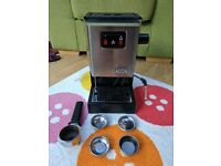Gaggia Classic espresso machine with Rancilio steam wand upgrade