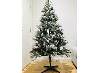 6ft Artificial Frosted Christmas Tree + Gif Boxes + Door Bell + Storage Bag
