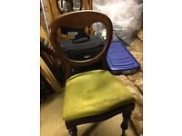 Balloon back dining chair, shabby chic, restoration