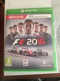 F1 2016 great condition no scratches collection only