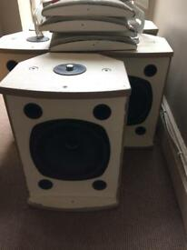 Pa speakers install home hifi 5.1 club bar tannoy x5 +1 unloaded cab make a offer