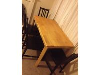 Wooden dinning table with 6 chairs for sale