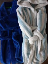 2x children dressing gowns 4-5 and 7-8 years old