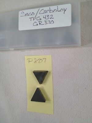 10 New Seco Tpg 432 Carbide Inserts. Grade 370. P807